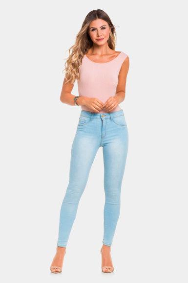 Calça Jeans com Elastano Jeans Médio